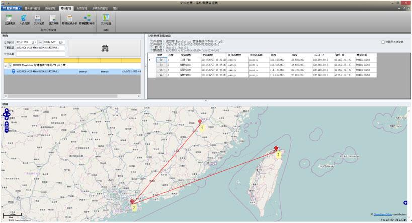 文件地理軌跡紀錄