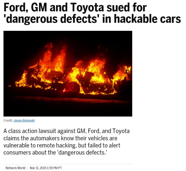 相關汽車大廠遭受訴訟的新聞