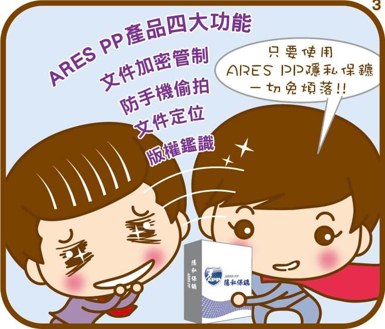 ARES PP 隱私保鑣,機密資料一把罩