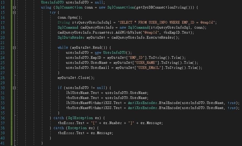XSSSample 程式碼片段